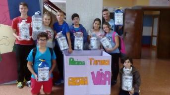 Algunos alumnos de La Ruta Solidaria